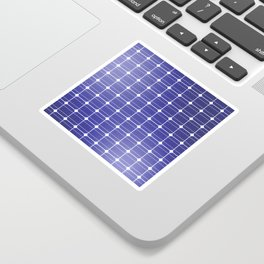 In charge / 3D render of solar panel texture Sticker