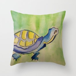 Curious Turtle Throw Pillow