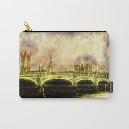 Abstract Golden Westminster Bridge in London Carry-All Pouch