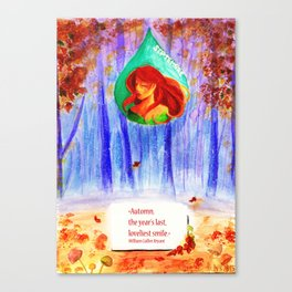 Automn, the year's last, loveliest smile Canvas Print