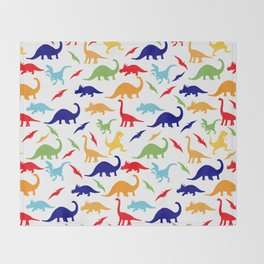 Colorful Dinosaurs Pattern Throw Blanket