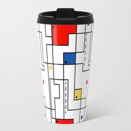 Retro Abstract Circuitry Travel Mug