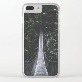Lynn Canyon Suspension Bridge Clear iPhone Case