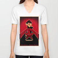 obey V-neck T-shirts featuring Obey Mario by Head Glitch