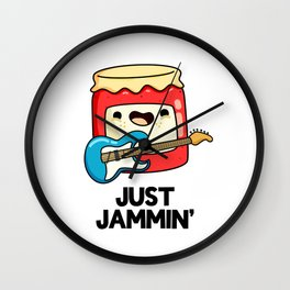 Just Jammin Cute Music Jam Pun Wall Clock
