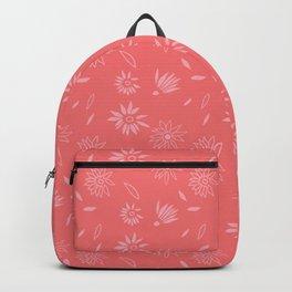 Coral Pink Flora Pattern 2 Backpack