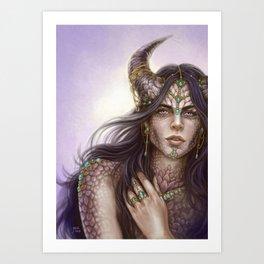 Spellbound Dragon Art Print