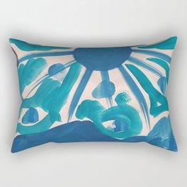 SERIES NOALIE WATERCOLOR BLUE SUN Rectangular Pillow