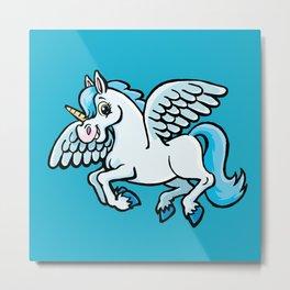 unicorn with wings Metal Print