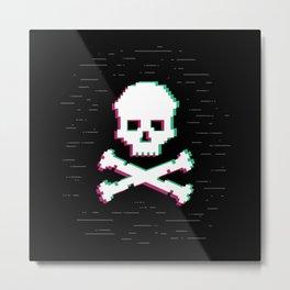 Game Over Glith Metal Print