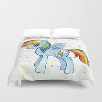 mlp Duvet Covers featuring Rainbow Dash  by Olechka