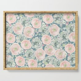 Flowers And Succulents #buyart #decor #society6 Serving Tray