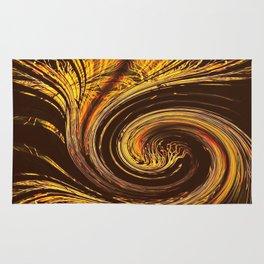 Golden Filigree Germination Rug