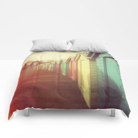 Beach Huts 01B - Retro Comforters