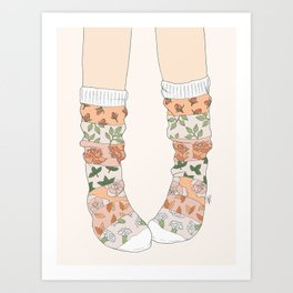 Spring Socks Art Print