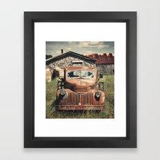 Fourties Farm Truck Framed Art Print