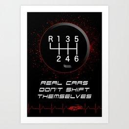 Real Driver - Real Car, Motorsport Rally Drifting Racing Art Print