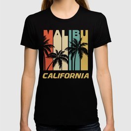 Retro Malibu California Palm Trees Vacation T-shirt