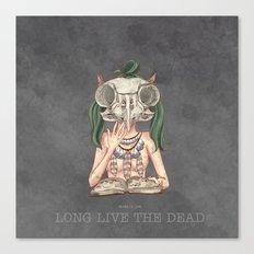 Long live the dead - Owl Canvas Print