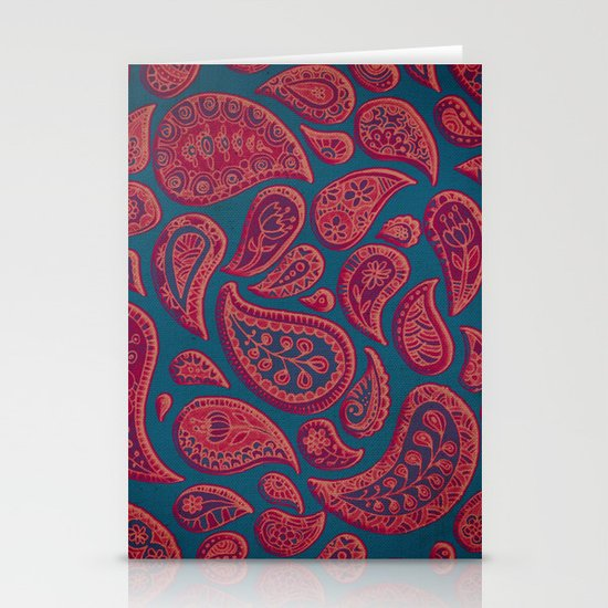 Paisley Doodles Stationery Cards