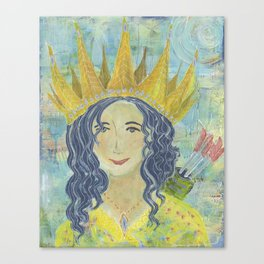 Warrior Queen Jennifer Canvas Print