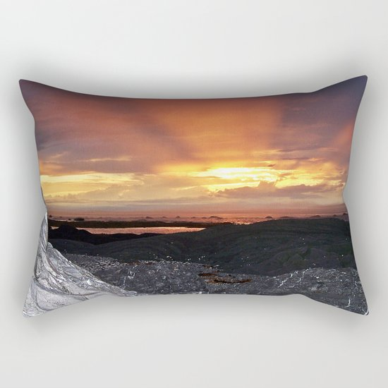 Sunset on the Rocks Rectangular Pillow