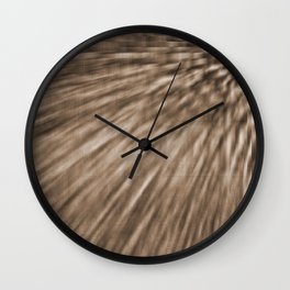 Taupe Pixel Wind Wall Clock