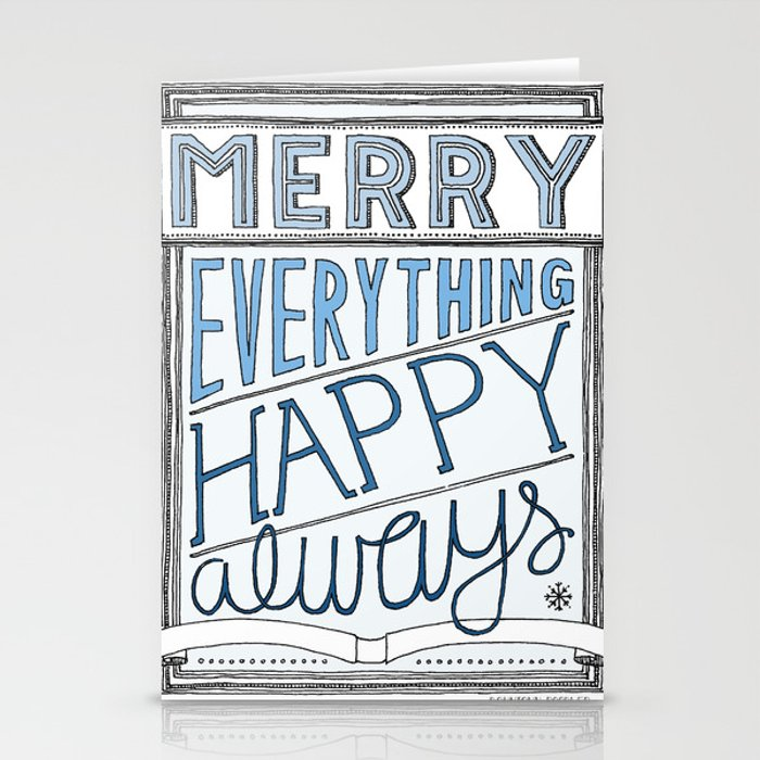 Special Edition Holiday Print: Merry Everything by the Downtown Doodler Stationery Cards