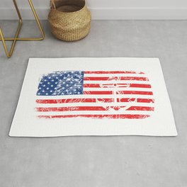 Never Underestimate An Old Man Who Defended Your Country U.S. Navy Veterans Design T-shirt Design Rug