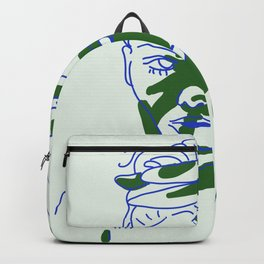 shadow of hand (blue and green) Backpack