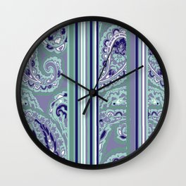 paisley stripe Wall Clock