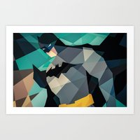 dc comics Art Prints featuring DC Comics Superhero by Eric Dufresne