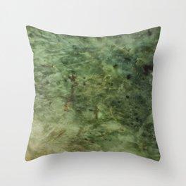 Greenstone grain Throw Pillow