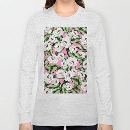 White Spring Flowers Long Sleeve T-shirt