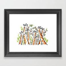Giraffe Banquet Framed Art Print