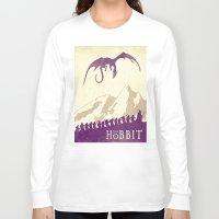 the hobbit Long Sleeve T-shirts featuring The Hobbit by WatercolorGirlArt