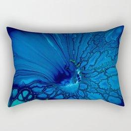 Indigo hibiscus Rectangular Pillow