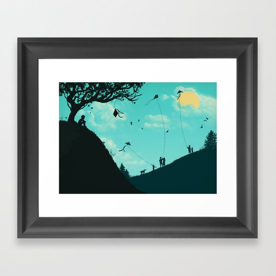 On Melancholy Hill Framed Art Print