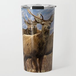 The four stags on the loch Travel Mug