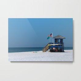 Siesta Key Lifeguard Station Metal Print