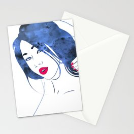 Red Maquillage Stationery Cards