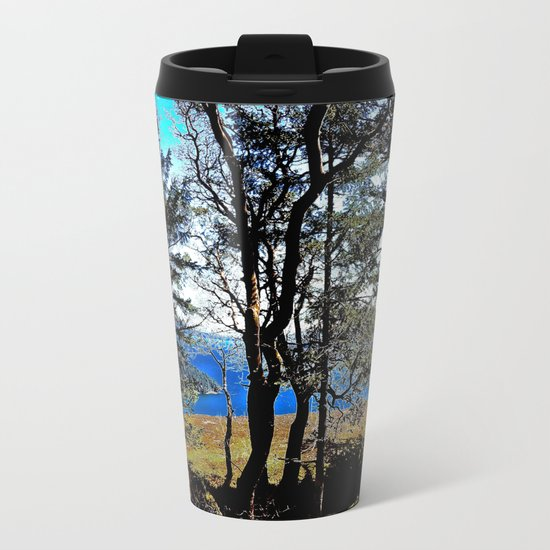 Trees, Daylight Stoney Hill Metal Travel Mug