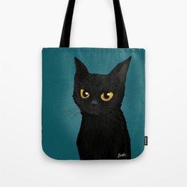 Cat in the blue Tote Bag