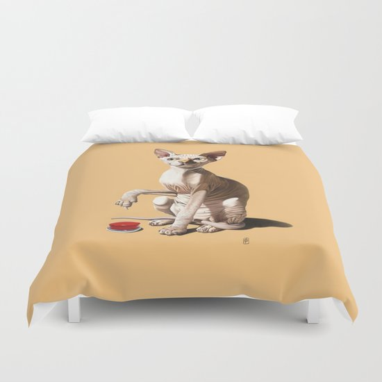 Cat-astrophe (Colour) Duvet Cover