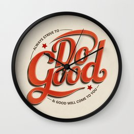 Do Good Wall Clock