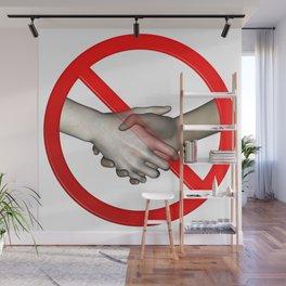 No Hand Shaking Sign Wall Mural