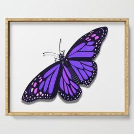Purple Monarch Butterfly Serving Tray