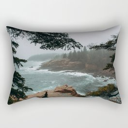 Foggy Morning in Acadia National Park Rectangular Pillow