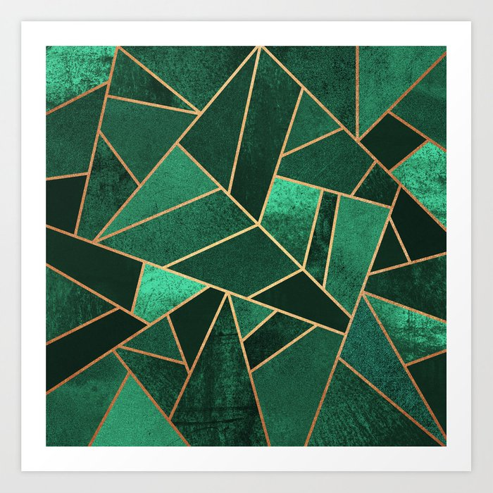 Emerald and Copper Kunstdrucke