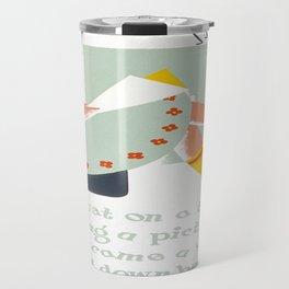 Vintage poster - Little Miss Muffet Travel Mug